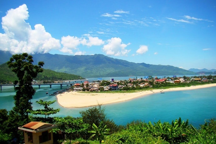 lang co beach - hoi an to hue by private car