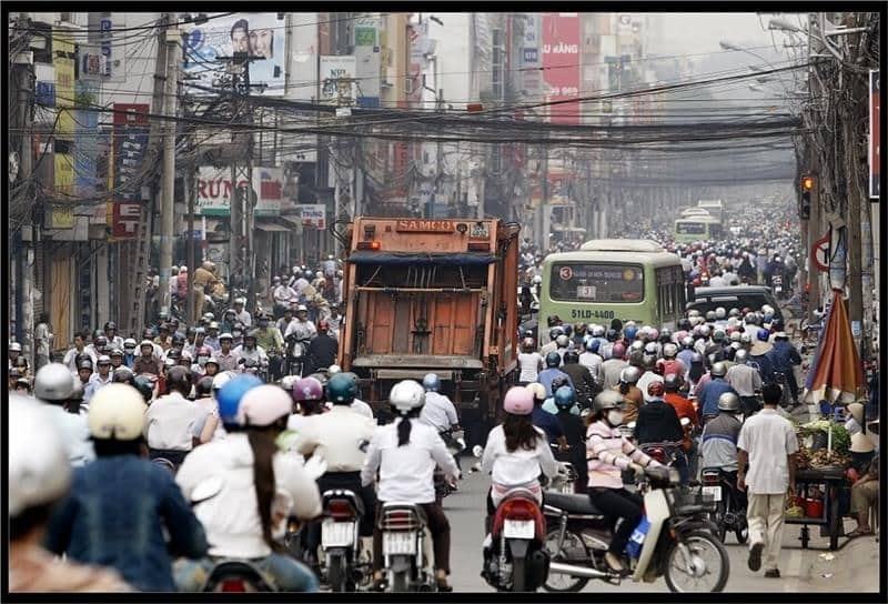 Where is the population in Vietnam concentrated?