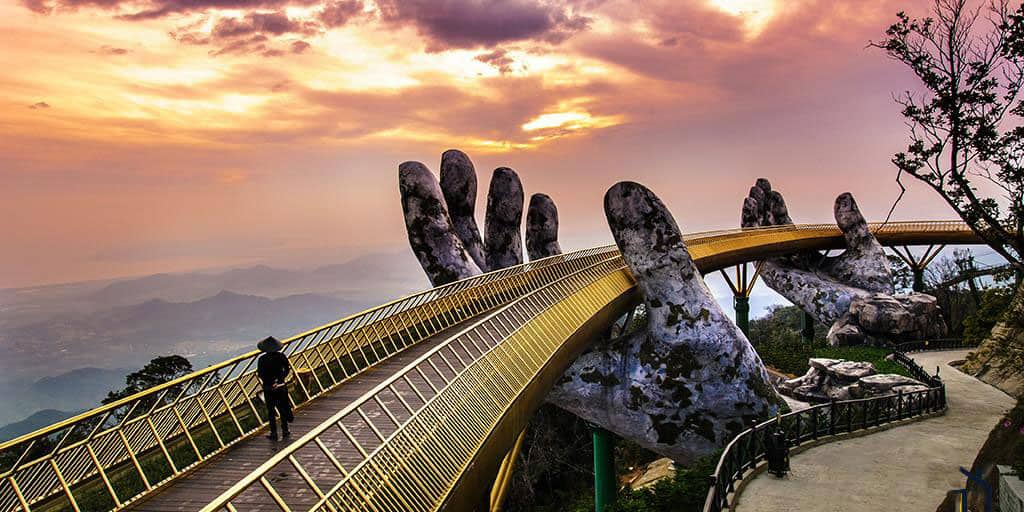 Sunset at Golden Bridge- Ba Na Hills Private Tour